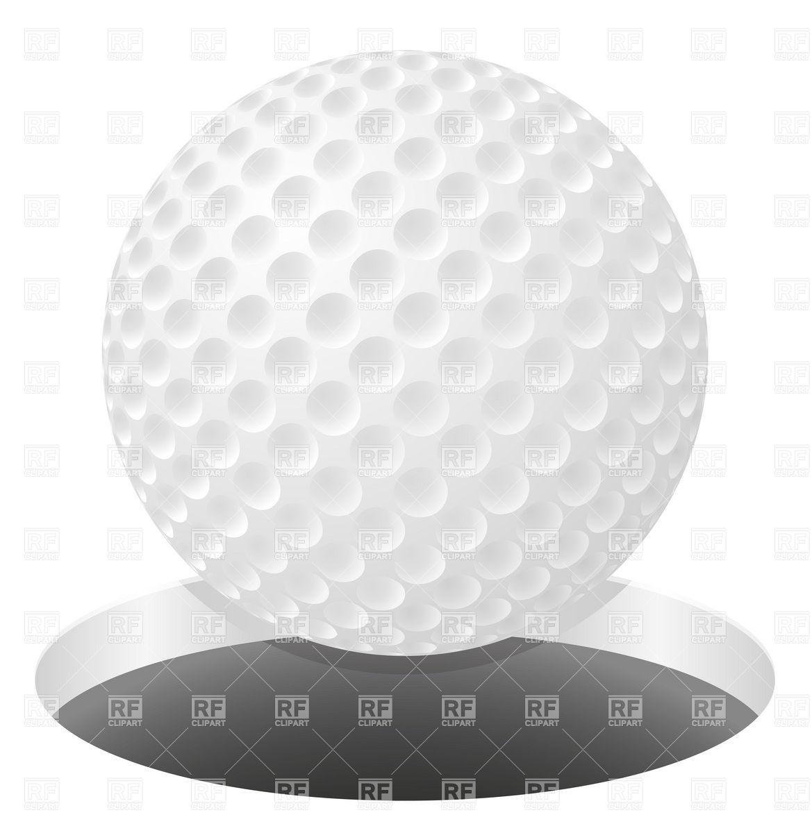 602 Golf Ball free clipart.