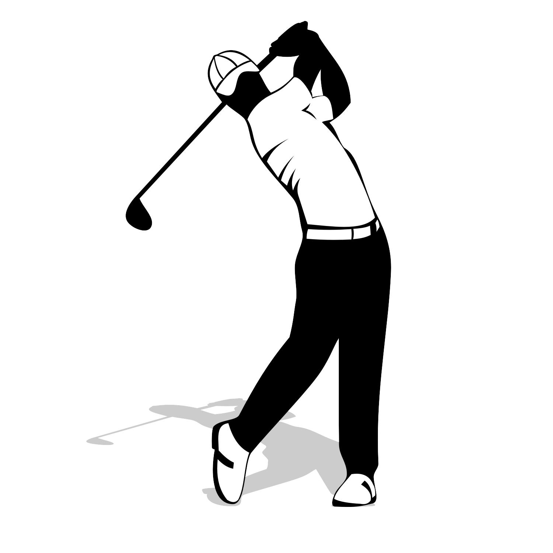Golf Player Clipart.