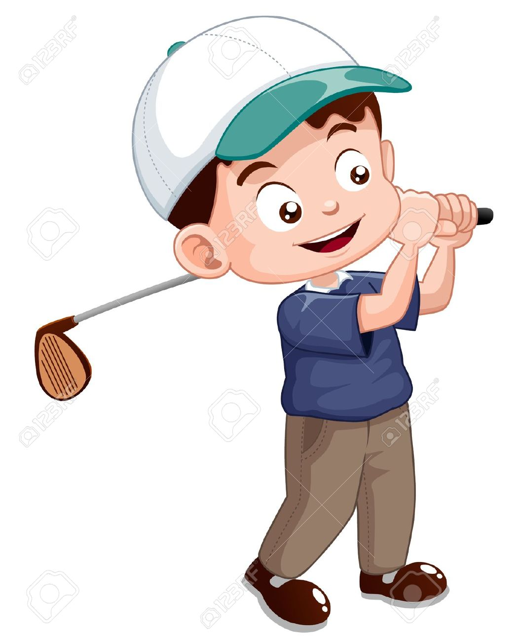 Golf player clipart - Clipground Kid Golfer Clipart