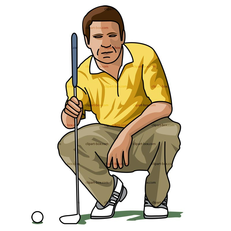 CLIPART GOLF PLAYER POSE.
