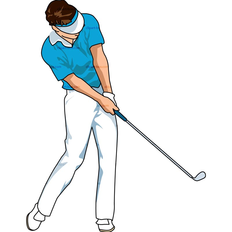 CLIPART GOLF PLAYER SWING 3.