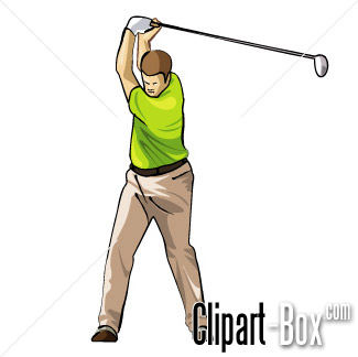 CLIPART GOLF PLAYER SWING 4.