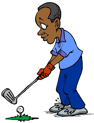 Golf player clipart.