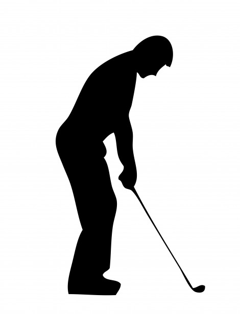 Golf Player Silhouette Clipart Free Stock Photo.
