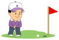 Golf Putting Clipart.