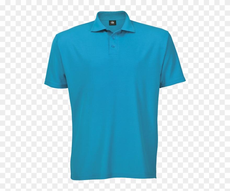Free Tshirt Template Blue Golf Shirt.