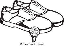 Golf shoes Clipart Vector Graphics. 310 Golf shoes EPS clip art.