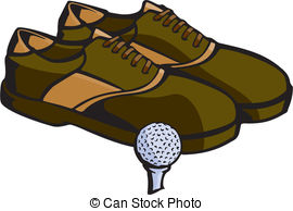 Clipart Vector of golf shoes equipment.