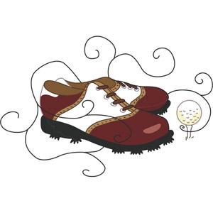 Golf Shoes Clip Art.