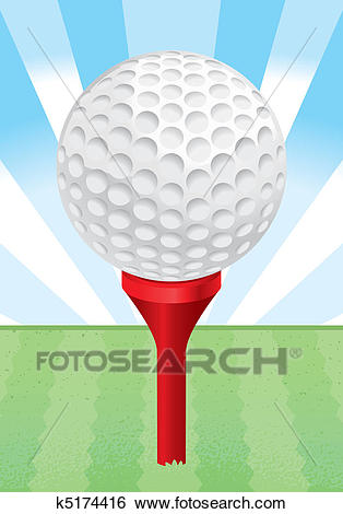 Golf Ball Tee Clip Art.
