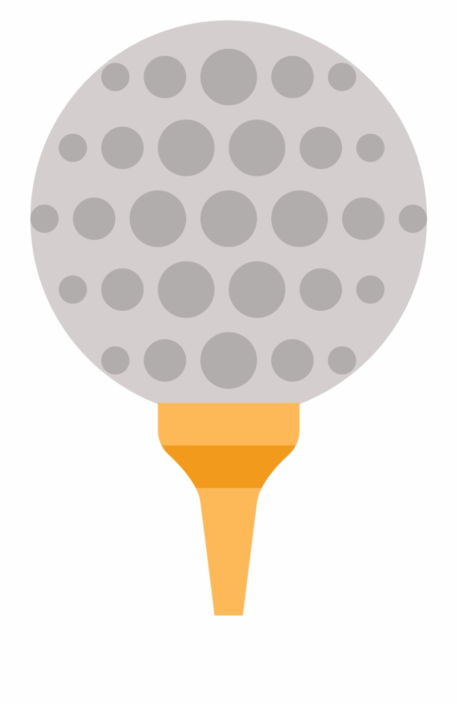 Golf Ball On Tee Vector.