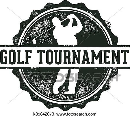 Golf Tournament Stamp Clipart.