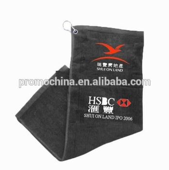 Customized Logo Branded 100% Cotton Golf Hand Towels For Promotional Gift.