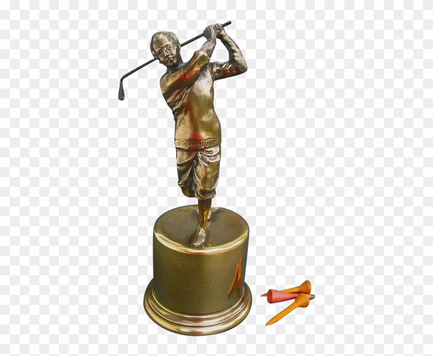 Fine Figural Golf Trophy.
