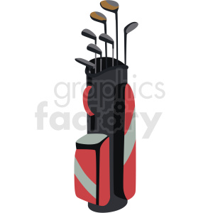 golf bag vector clipart no background . Royalty.