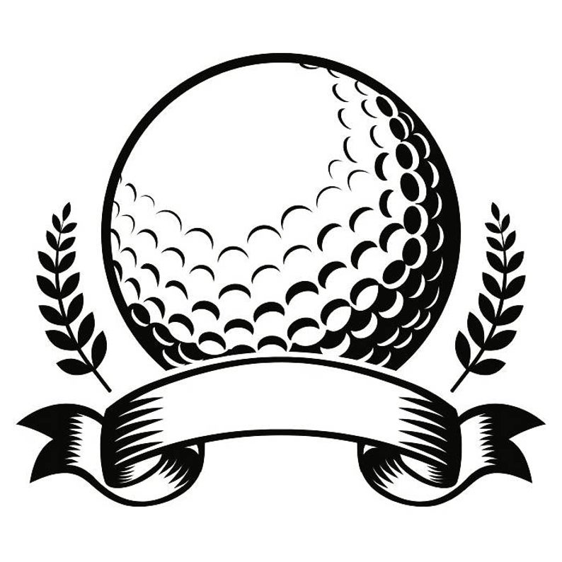 Golf Logo #19 Tournament Club Iron Wood Golfer Golfing Sport Course Cart  Car Ball Green Game.SVG .EPS .PNG Clipart Vector Cricut Cut Cutting.
