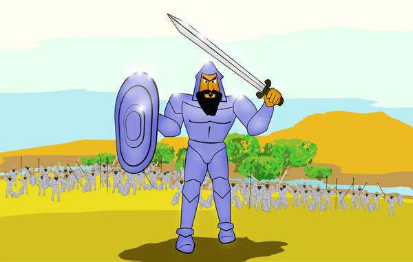 Goliath Clip Art.
