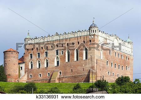 Stock Photography of Castle in Golub Dobrzyn, Kuyavia.