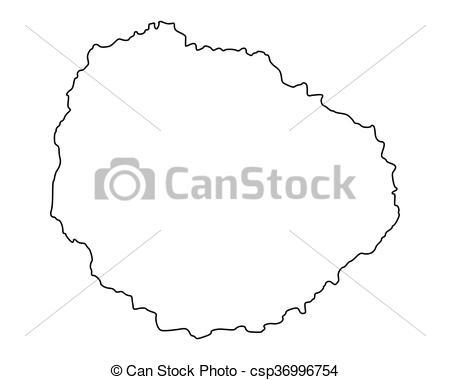 Clipart Vector of Map of La Gomera csp36996754.