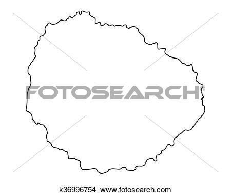 Clipart of Map of La Gomera k36996754.