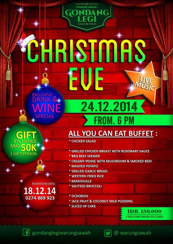 Christmas Eve in Gondang Legi #christmas #dinner #jogja #flyer.