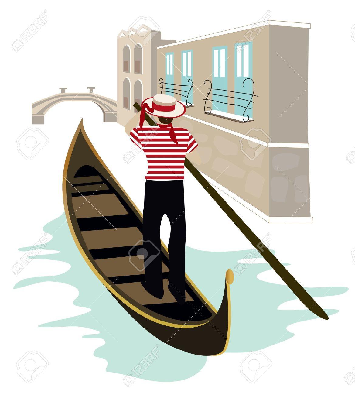Venice gondola clipart.