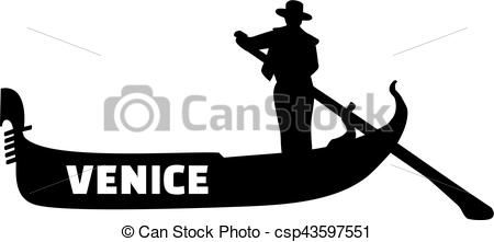 Image result for silhouette graphic of gondola.