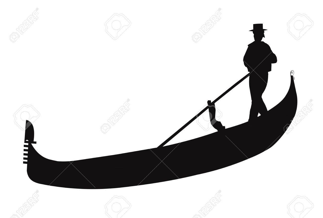 gondola in silhouette.
