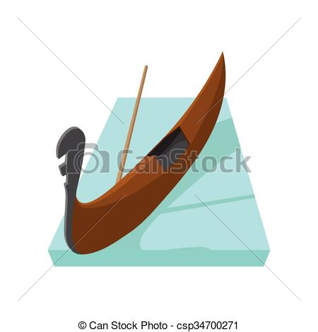 Vectors Illustration of Gondola icon, cartoon style.