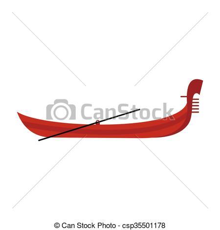 Vectors Illustration of Gondola icon, flat style.