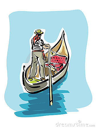 Free clipart gondola venice.