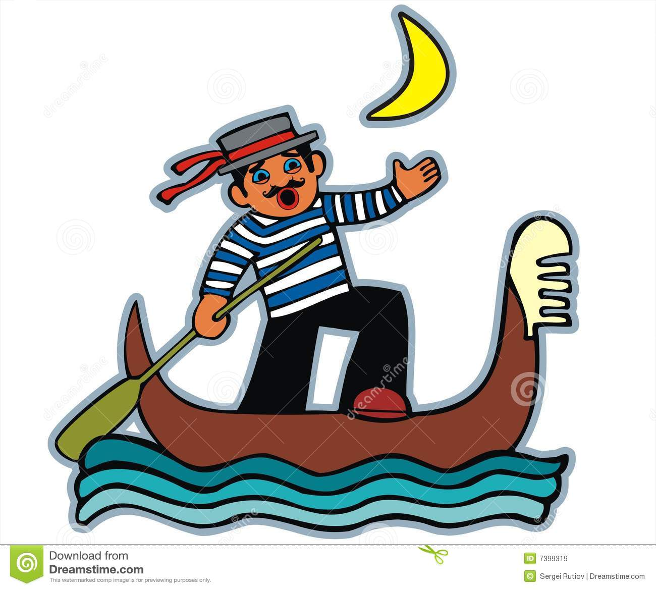Gondolier Stock Illustrations.