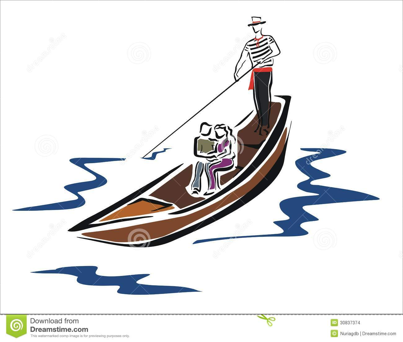 Gondola People In Clipart.