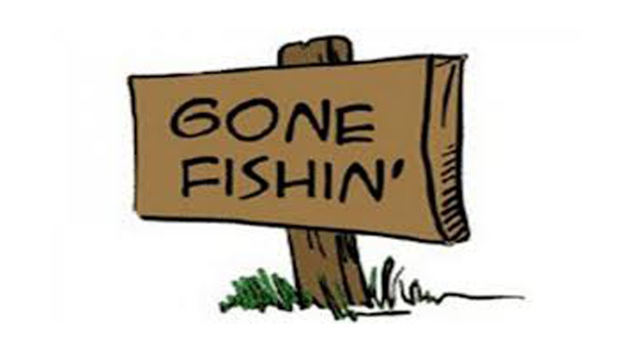 Gone Fishing' Clipart.