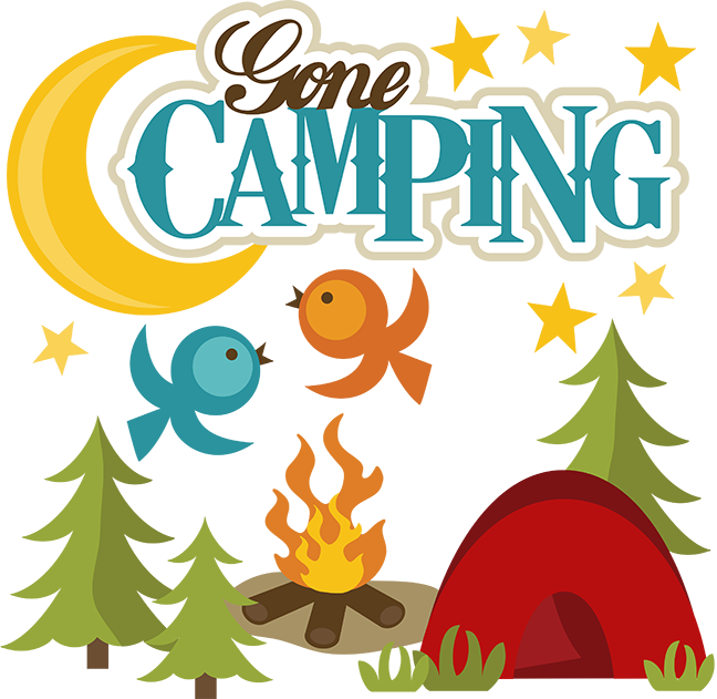 Dog gone camping clipart.