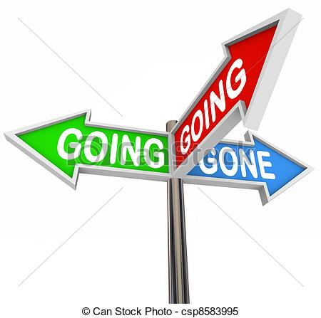 Stock Illustrations of Going Going Gone 3 Three.