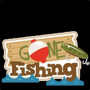 Gone Fishing title SVG.