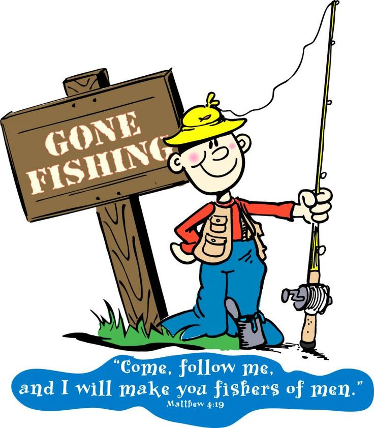 Gone Fishing Clipart.