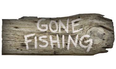 Gone Fishing Sign free PNG.