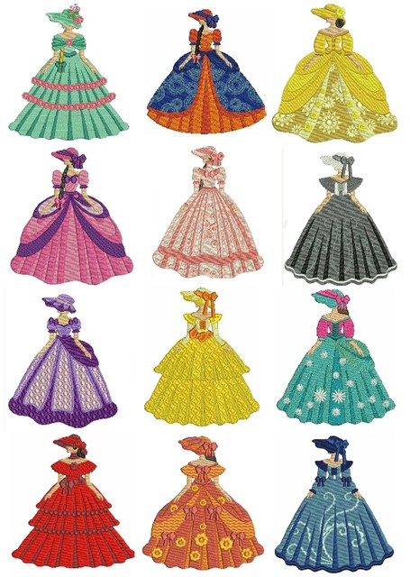 Belles of the South by Tea Tree Embroideries RFT.