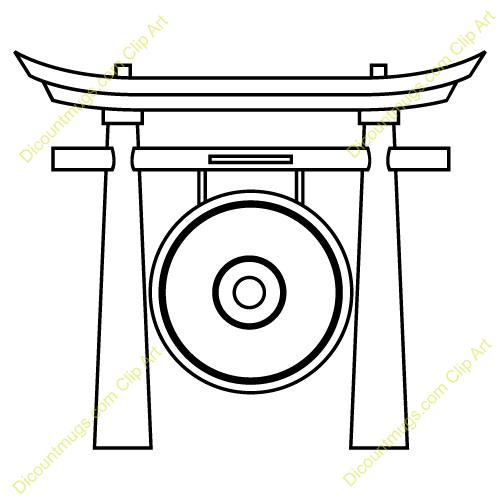 Gong clip art.