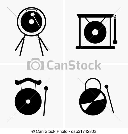 Vector Clipart of Gong.