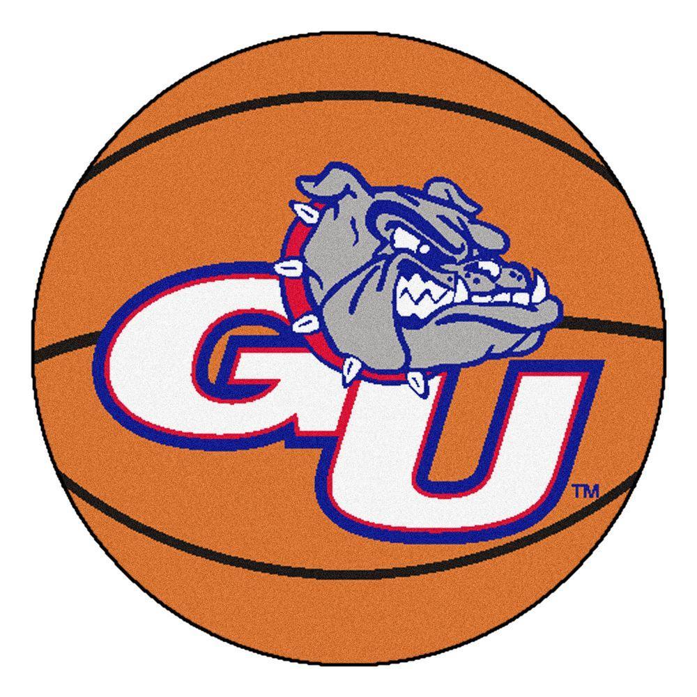 FANMATS NCAA Gonzaga University Orange 2 ft. x 2 ft. Round Area Rug.