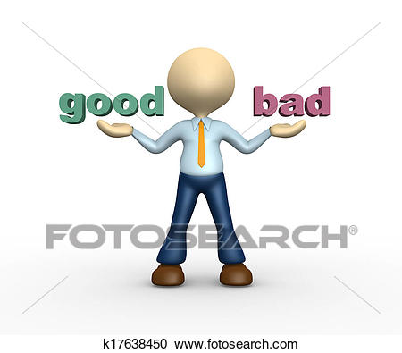 Good and bad Clipart.