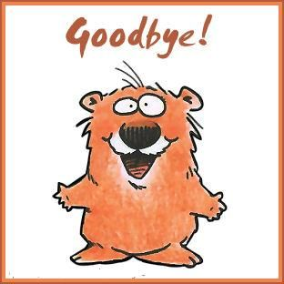Happy Goodbye Clipart.