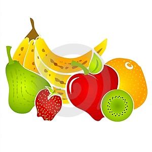 Delicious Healthy Food Clip Art.