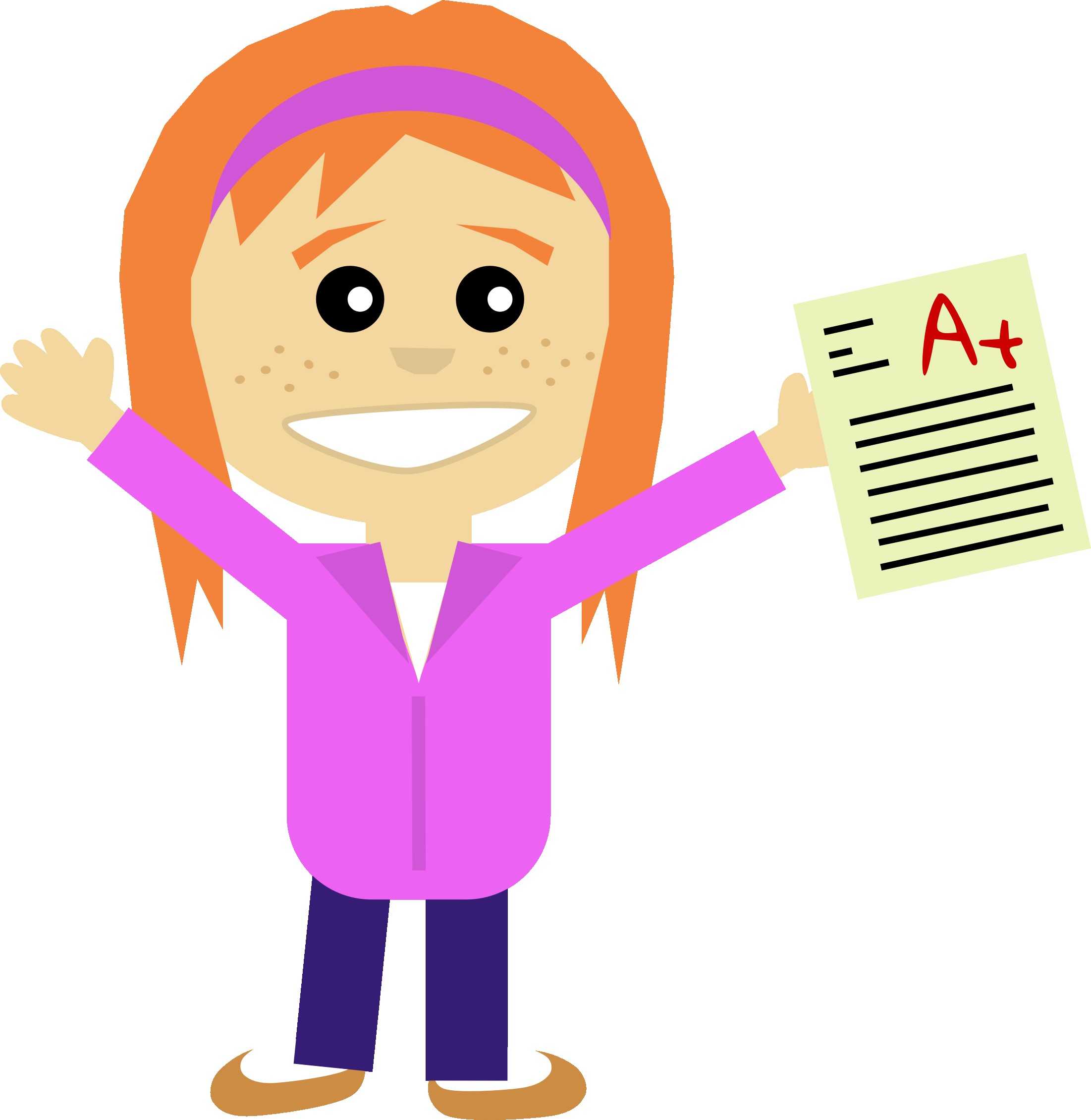 With Clip Art Good Girl Laughing Happy Clipart 10.