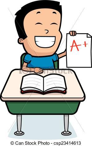 Cartoon Boy Grades.