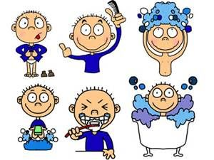 cartoon good habits for kids.
