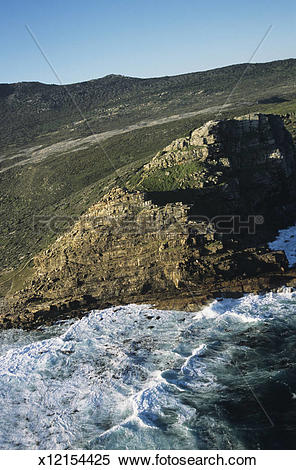 Stock Image of Cape of Good Hope, vertical aerial view, South.